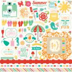 Echo Park Paper Company - Summer Bliss Collection - Element Stickers