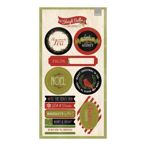 My Minds Eye - Sleigh Bells Ring Collection - 6x12 Sticker Labels