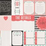 Teresa Collins Designs - Save the Date - The Details 12 x 12 Double Sided Patterned Paper