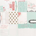 Teresa Collins Designs - Save the Date - Just Married 12 x 12 Double Sided Patterned Paper