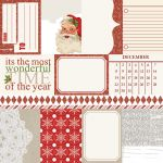 "Teresa Collins Designs - Santa's List - 12x12"" Glittered Paper - Notecards"