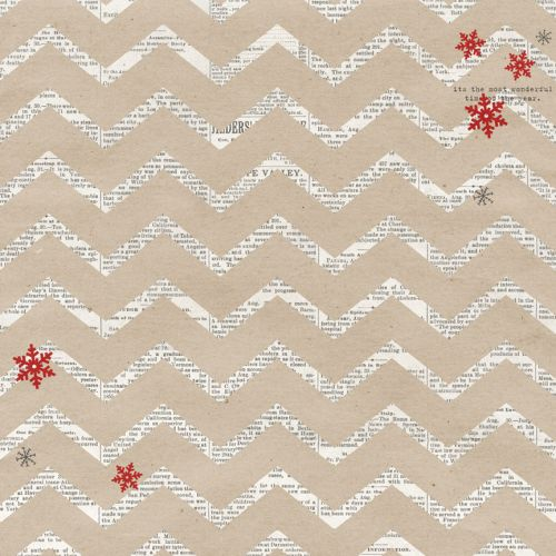 "Teresa Collins Designs - Santa's List - 12x12"" Paper - Chevron"