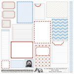 Teresa Collins Designs - Stationery Noted - 12x12 Die Cut Sheet