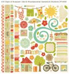 Simple Stories - 100 Days of Summer - Fundamentals Cardstock Stickers