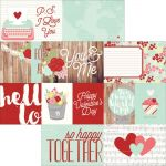 "Simple Stories - You & Me - Cardstock 12""X12"" - Elements #1"