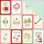 "Simple Stories - You & Me - Cardstock 12""X12"" - All You Need Is Love"