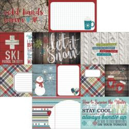 "Simple Stories - Snow Patrol - Double-Sided Cardstock 12""X12"" - Elements #1"