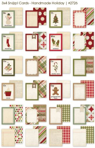 Simple Stories - Handmade Holiday - 3x4 Snap Cards