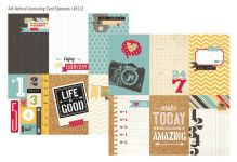 "Simple Stories - 24/Seven - 12"" x 12"" - 4 x 6 Vertical Journaling Card Elements"