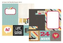 "Simple Stories - 24/Seven - 12"" x 12"" - 4 x 4 Quote / 6 x 8 Photo Mat Elements"