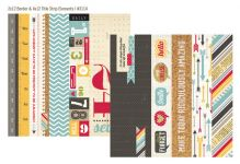 "Simple Stories - 24/Seven - 12"" x 12"" - 2 x 12 Border / 4 x 12 Title Strip Elements"