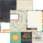 "Simple Stories - I Heart Summer - 4x4 Quote & 6x8 Photo Mat Elements 12"" x 12"""