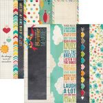 "Simple Stories - I Heart Summer - 2x12 Border & 4x12 Title Strip Elements 12"" x 12"""