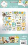 Simple Stories - Sn@p! Insta Squares & Pieces - 29 Piece Pack - Baby Boy