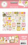 Simple Stories - Sn@p! Insta Squares & Pieces 28 Piece Pack - Baby Girl