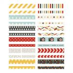 "Simple Stories - Say Cheese II - Washi Paper Tape 3""X4"" Sheets 24/Pkg - Designer"