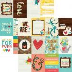 "Simple Stories - We Are Family - Double-Sided Elements Cardstock 12""X12"" - 3""X4"" Journaling Cards"