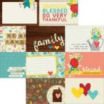 "Simple Stories - We Are Family - Double-Sided Elements Cardstock 12""X12"" - 4""X6"" Horizontal Journaling Cards"