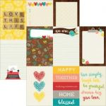 "Simple Stories - We Are Family - Double-Sided Elements Cardstock 12""X12"" - 4""X6"" Vertical Journaling Cards"
