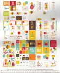 Simple Stories - Cards & Squares, Bits & Pieces Sn@p! Pack 124 Piece Pack - Birthday