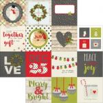 "Simple Stories - Claus & Co Double-Sided Elements Cardstock 12""X12"" - 4""X4"""