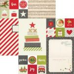 "Simple Stories - Claus & Co Double-Sided Elements Cardstock 12""X12"" - 2""X2"" & 6""X8"""