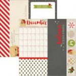 "Simple Stories - Claus & Co Double-Sided Elements Cardstock 12""X12""- 2""X12"", 4""X12"" & 6""X12"""