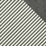"Simple Stories - Claus & Co Double-Sided Cardstock 12""X12"" - Charcoal Stripe/Stars Simple Basic"
