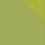 "Simple Stories - Claus & Co Double-Sided Cardstock 12""X12"" - Green Dot/Linen Simple Basic"