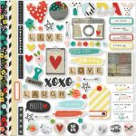 "Simple Stories - Life in Color Cardstock Stickers 12""X12"" - Fundamentals"