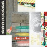 "Simple Stories - Life in Color Double-Sided Elements Cardstock 12""X12"" - 2""X12"", 4""X12"" & 6""X12"""