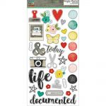 "Simple Stories - Life in Color Chipboard Stickers 6""X12"""