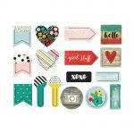 Simple Stories - Life in Color Decorative Shaped Plastic Clips 16/Pkg