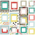Simple Stories - Life in Color Chipboard Frames 24/Pkg