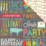 "Simple Stories - Let's Party Double-Sided Cardstock 12""X12"" - Hip Hip Hooray!"