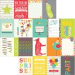 "Simple Stories - Let's Party Double-Sided Elements Cardstock 12""X12"" - 3""X4"" Journaling Cards"
