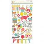 "Simple Stories - Let's Party Chipboard Stickers 6""X12"""