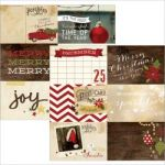 "Simple Stories - Cozy Christmas - Double-Sided Elements Cardstock 12""X12"" - 4""X6"" Horizontal Journaling Cards"