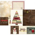 "Simple Stories - Cozy Christmas - Double-Sided Elements Cardstock 12""X12"" - 4""X4"" Quote& 6""X8"" Photo Mat Elements"
