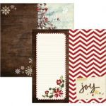 "Simple Stories - Cozy Christmas - Double-Sided Elements Cardstock 12""X12"" - 6""X12"" Page Elements"