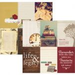 "Simple Stories - Legacy - Double-Sided Cardstock 12""X12"" - 4""X6"" Vertical Journaling Card Elements"