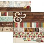 "Simple Stories - Legacy - Double-Sided Cardstock 12""X12"" - 2""X12"" Border & 4""X12"" Title Strip Elements"
