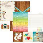 "Simple Stories - Good Day Sunshine Double-Sided Elements Cardstock 12""X12"" - 4""X4"" Quotes & 6""X8"" Photo Mats"