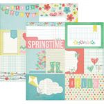 "Simple Stories - Spring Double-Sided Elements Cardstock 12""X12"" - 3""X4"" Journaling Cards"