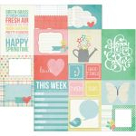 "Simple Stories - Spring Double-Sided Elements Cardstock 12""X12"" - 4""X6"" Journaling Cards"