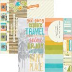 "Simple Stories - You Are Here! Double-Sided Elements Cardstock 12""X12"" - 2""X12"", 4""X12"" & 6""X12"""