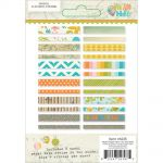 "Simple Stories - You Are Here! Washi Paper Tape 3""X4"" Sheets 24/Pkg"