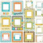 Simple Stories - You Are Here! Chipboard Frames 24/Pkg