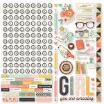 "Simple Stories - Carpe Diem - The Reset Girl Cardstock Stickers 12""X12"" - Combo"