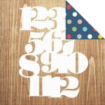 Simple Stories - Life Documented - Numbers Game Designer Cardstock